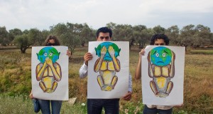 Syrian activist using art to protest against al-Assad