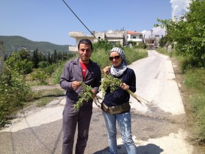 Me with Hamoudi Bitar in Latakia Mountains
